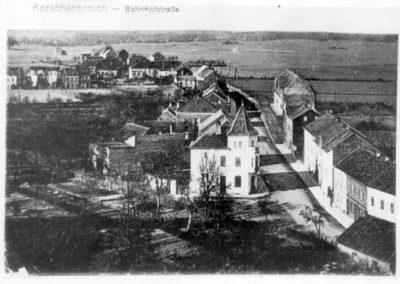 Luftbild Hindenburgstr mit altem Postamt