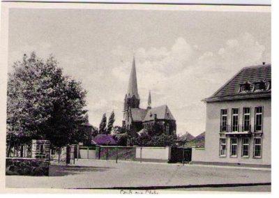 Glehn AK mit Kirche und Rathaus