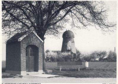 Kleinenbroich Antoniuskapelle mit Mühle ca.1987